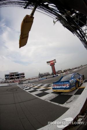 Brad Keselowski, Penske Racing Dodge takes the checkered flag