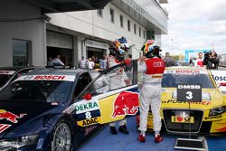 Race winner Mattias Ekström, Audi Sport Team Abt
