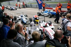 Winner Felix Rosenqvist, Mucke Motorsport, Dallara F308 Mercedes, second place Marco Wittmann, Signature, Dallara F308 Volkswagen