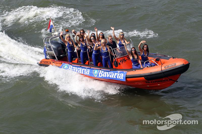 The Bavaria girls arrive