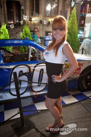Crescent street racing party: a lovely hostess