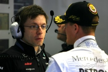 Peter Bonnington, Race engineer of Michael Schumacher, Mercedes GP