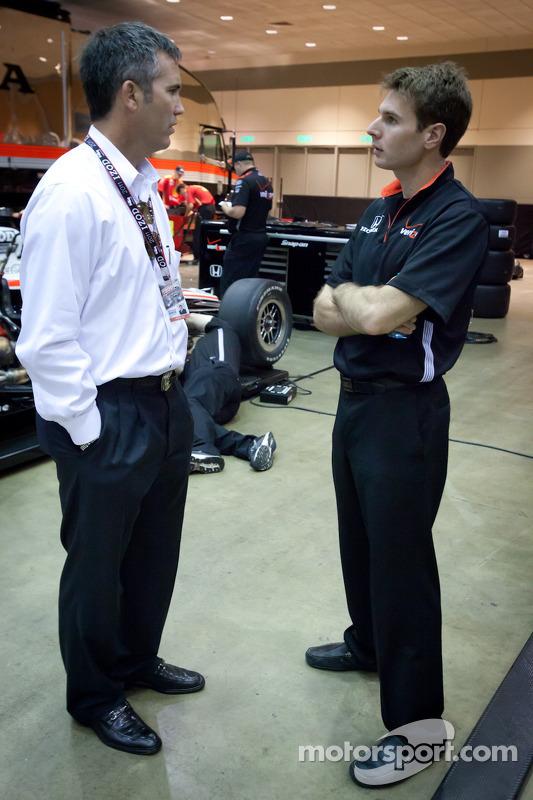 Chief Executive Officer of IndyCar Randy Bernard and Will Power, Team Penske