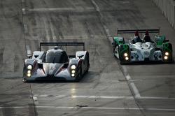 #6 Muscle Milk Aston Martin Racing AMR/Lola Coupe B08/62: Klaus Graf, Romain Dumas, #18 Performance Tech Motorsports Oreca FLM09: Anthony Nicolosi, Jarrett Boon