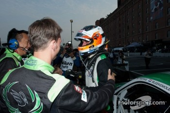 Jeroen Bleekemolen is congratulated on his GTC Class win