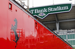 Risi Competizione trailer in the shadow of M&T Bank Stadium