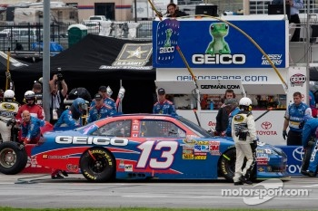 Pit stop for Casey Mears, Germain Racing Toyota
