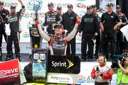 Victory lane: race winner Jeff Gordon, Hendrick Motorsports Chevrolet celebrates
