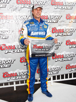 Pole winner David Reutimann, Michael Waltrip Racing Toyota