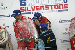 GTE Pro podium: champagne celebrations
