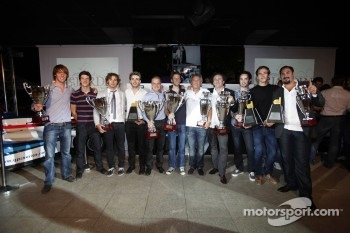 Nigel Melker, James CaladoLuca Filippi Valtteri Bottas, Jules Bianchi Julian Rowse Romain Grosjean, the award winners