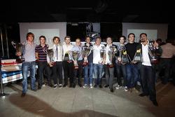 Nigel Melker, James CaladoLuca Filippi Valtteri Bottas, Jules Bianchi Julian Rowse Romain Grosjean, the award winners
