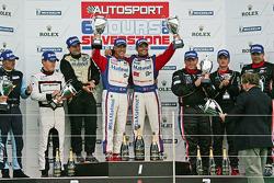 LMGTE Am Podium: Winners: #67 IMSA Performance Matmut Porsche 911 RSR: Raymond Narac, Nicolas Armindo, 2nd: #63 Proton Competition Porsche 911 RSR: Gianluca Roda, Patrick Long, 3rd: #62 CRS Racing Ferrari F430: Pierre Ehret, Shaun Lynn, Roger Willis
