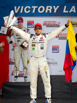 Podium: race winner Gustavo Yacaman, Team Moore Racing