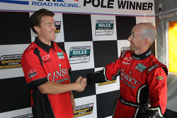 DP pole winner Jon Fogarty with Alex Gurney