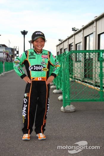 A young fan of Danica Patrick, Andretti Autosport