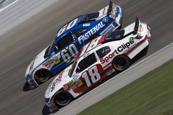 Joey Logano and Carl Edwards