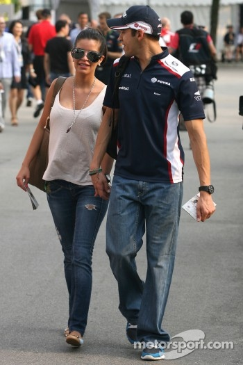Pastor Maldonado, Williams F1 Team and his girlfriend