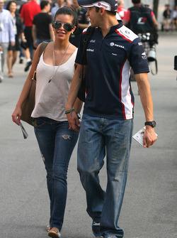 Pastor Maldonado, Williams F1 Team and his girlfriend
