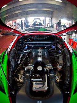 #25 Ferrari of Beverly Hills Ferrari 458 Challenge engine