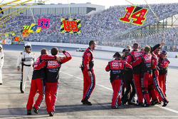 Stewart-Haas Racing Chevrolet celebrates the win