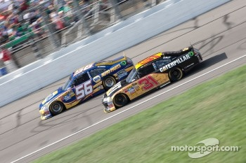 Martin Truex Jr., Michael Waltrip Racing Toyota and Jeff Burton, Richard Childress Racing Chevrolet