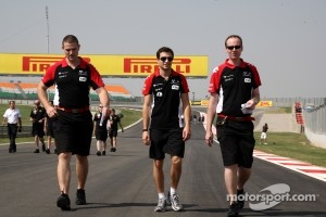 Jérôme d'Ambrosio, Marussia Virgin Racing walks the track