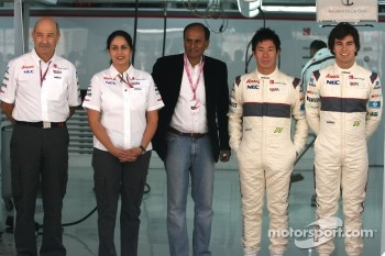Sauber F1 Team Indian blessing ceremony, car Puja