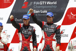 Podium: drivers champions Michael Krumm and Lucas Luhr