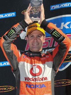 Podium: race winner Jamie Whincup