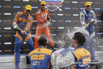 Podium: race winner Jamie Whincup, second place Will Davison, third place Mark Winterbottom