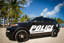 NASCAR Championship Drive in South Beach: Ford Police Interceptor pace truck on display