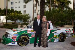 NASCAR Camping World Truck Series owner champion Kevin Harvick, Kevin Harvick Inc. Chevrolet and Delana Harvick