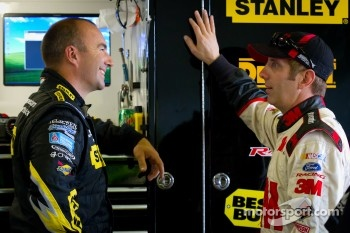 Marcos Ambrose, Petty Motorsport Ford and Greg Biffle, Roush Fenway Racing Ford