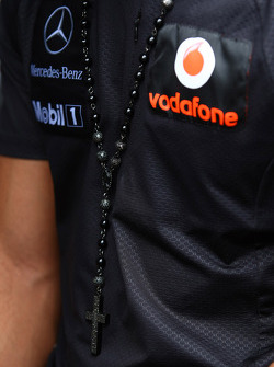 Lewis Hamilton, McLaren Mercedes necklace