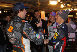 Michael Schumacher, Sebastian Vettel and Travis Pastrana