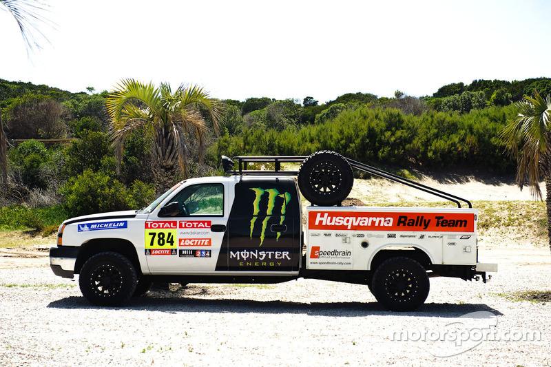 A Husqvarna support truck