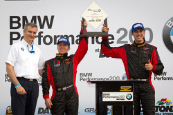 GS podium: class and overall winners Billy Johnson and Jack Roush Jr.