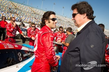 Dario Franchitti and NASCAR President Mike Helton