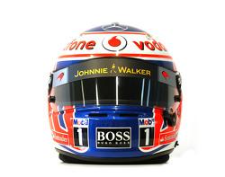 Jenson Button, McLaren Mercedes helmet