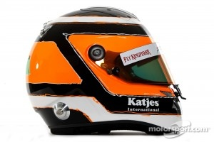 Nico Hulkenberg, Sahara Force India Formula One Team helmet
