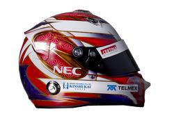 Kamui Kobayashi, Sauber F1 Team helmet
