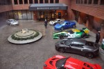 Lotus cars on display at the InterContinental Hotel in Baltimore