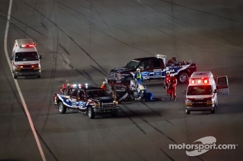Aftermath of the Jeff Gordon, Hendrick Motorsports Chevrolet crash