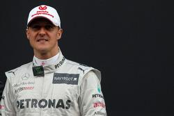 Michael Schumacher, Mercedes GP- Mercedes F1 W03 Launch