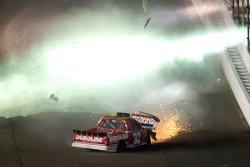 Miguel Paludo, Turner Motorsports Chevrolet crashes