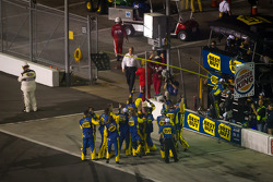 Roush Fenway Racing Ford team members celebrate the victory of Matt Kenseth
