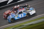 Aric Almirola, Richard Petty Motorsports Ford and Tony Stewart, Stewart-Haas Racing Chevrolet