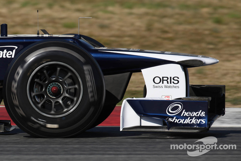Williams front wing and nose cone