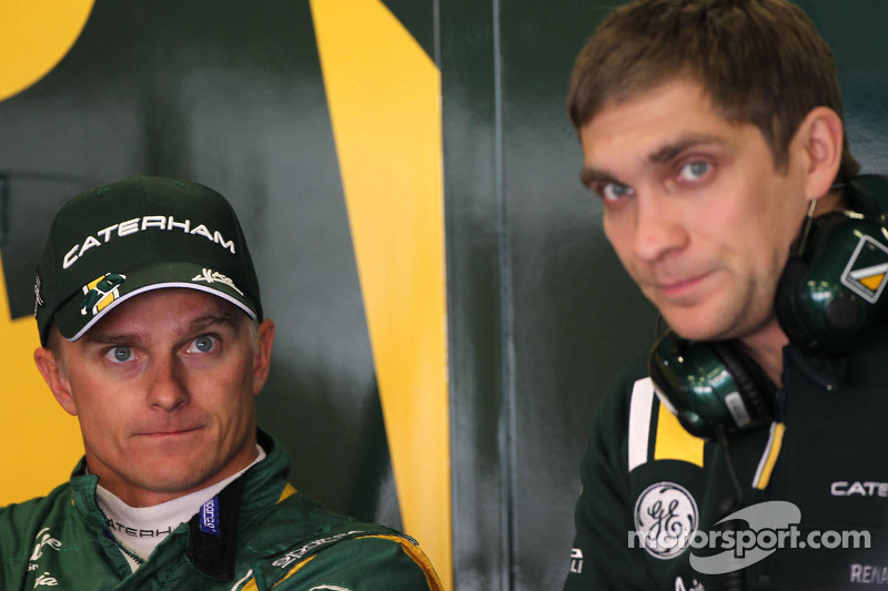 Heikki Kovalainen, Caterham F1 Team and Vitaly Petrov, Caterham F1 Team